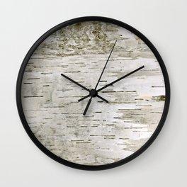 Birch Bark Skin Wall Clock