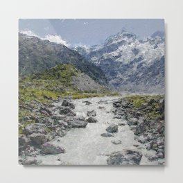 Mountain Scenery 2 painted Metal Print