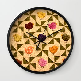 Birds Of A Feather Stay Together Wall Clock