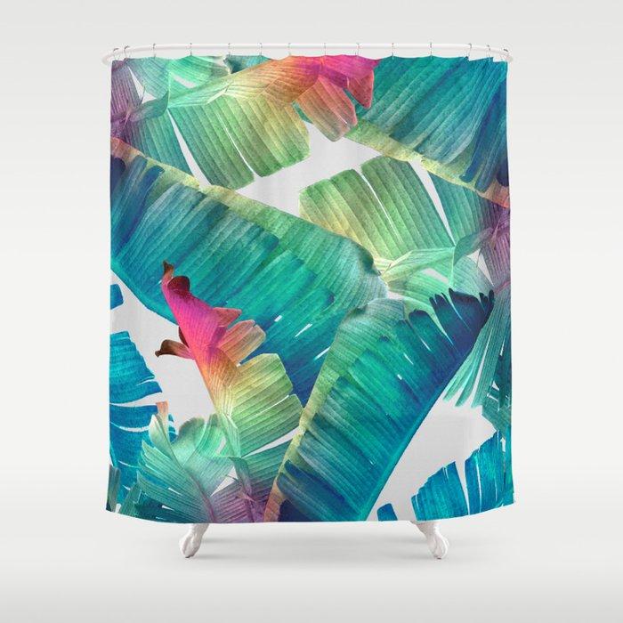 Banana leaf fantasy shower curtain by klaraacel society6 for Fantasy shower curtains