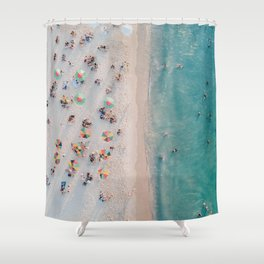 summer beach v Shower Curtain
