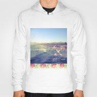 santa monica Hoodies featuring Santa Monica Beach by Kurt Schawacker