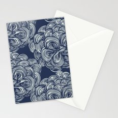 clouds - navy Stationery Cards
