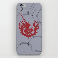 gundam iPhone & iPod Skins featuring Gundam Amuro Ray Custom Case by Kenjken