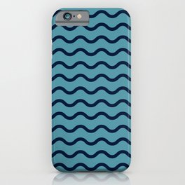 Simple Wave Lines iPhone Case