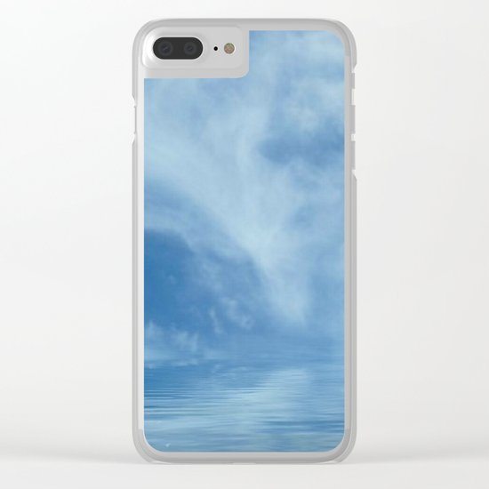 Sky Meets Sea Clear iPhone Case