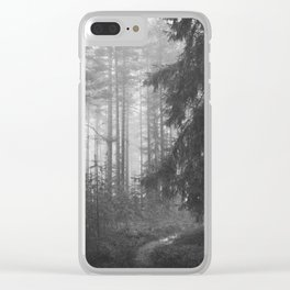 The Forest (Black and White) Clear iPhone Case