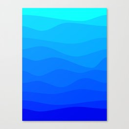 Into The Ocean Canvas Print
