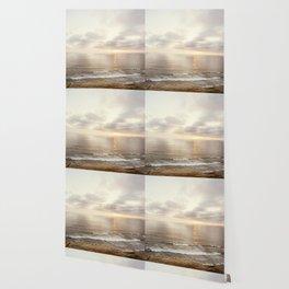 Neutral Sunset Pacific Ocean Photography, Brown Grey Seascape, California Coast Sea Landscape Wallpaper