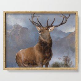 The Monarch Of The Glen by Edwin Landseer Serving Tray