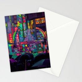Tokyo Nights / Shibuya Neon Noir / Rain / Liam Wong Stationery Cards