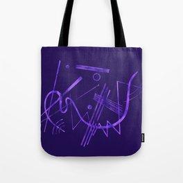Kandinsky - Purple Abstract Art Tote Bag