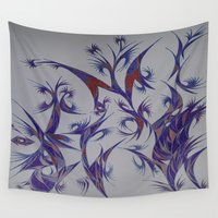 pen Wall Tapestries featuring Dancing Pen by Robert Nickologianis