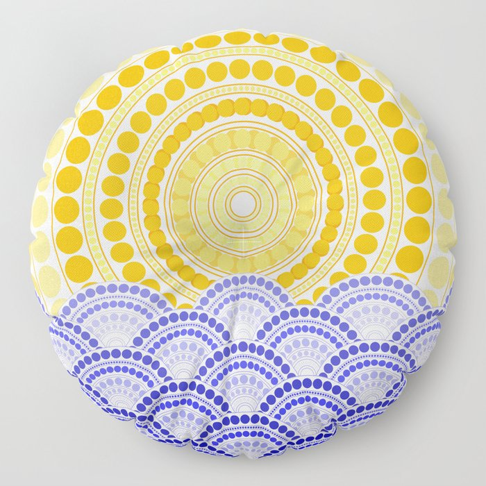 LIGHT OF DAWN (abstract tropical) Floor Pillow