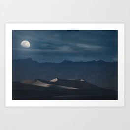 Dunes of the Death Valley Art Print