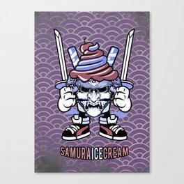 Samurai ice cream, funny samurai character, sweet ronin Canvas Print