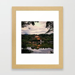 Kinkakuji in Kyoto, Japan Framed Art Print
