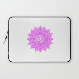Pink Glass Lotus Flower Om Symbol Drawing Laptop Sleeve