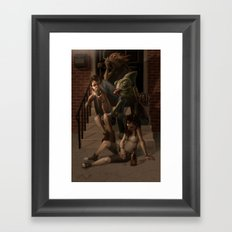 Stoop Kids Framed Art Print