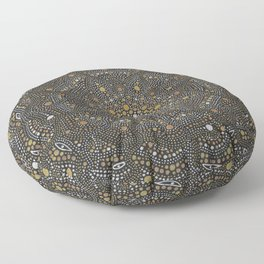 Cosmic Breath - Dot Mandala Floor Pillow