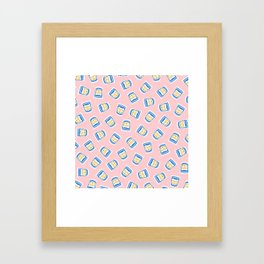 New York Deli Coffee Pattern Framed Art Print