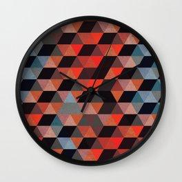 Textured Geometric Wall Clock