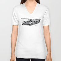 porsche V-neck T-shirts featuring Porsche 962 by sesven