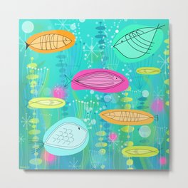 Big Fish Little Fish Metal Print
