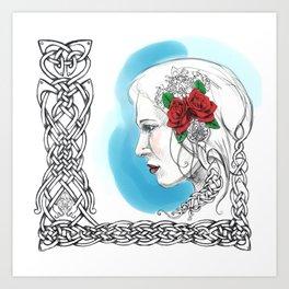 Celtic Rose Art Print