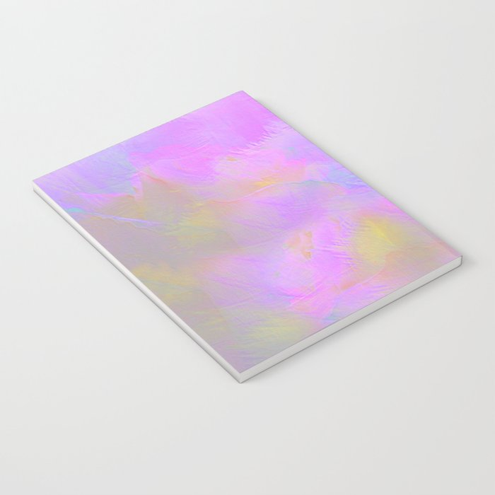 Bright Pastel Feathered Abstract Notebook