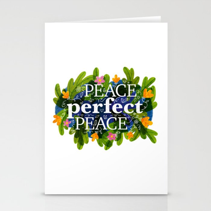 Peace, Perfect, Peace Stationery Cards
