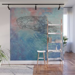 Millennium Falcon Sunset Sky Wall Mural