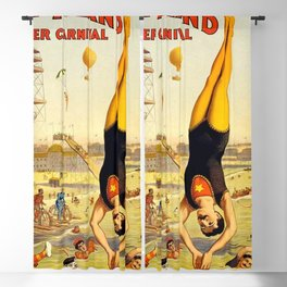 The Great Coney Island Water Carnival – Barnum & Bailey Circus Poster Blackout Curtain