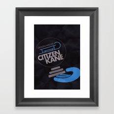 Citizen Kane - Alternative Movie Poster Framed Art Print