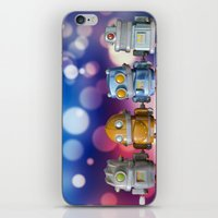 robots iPhone & iPod Skins featuring Robots by Pedro Nogueira
