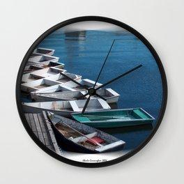 Rowboats Wall Clock
