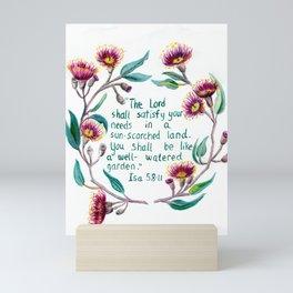 Isaiah 58:11 Mini Art Print