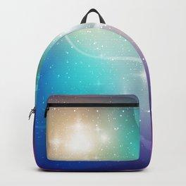 Nebula Waves and Stars Pattern Backpack