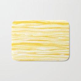 Milk and Honey Yellow Stripes Abstract Bath Mat