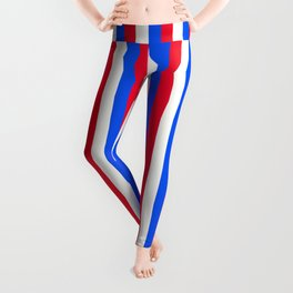 Team Colors 4... BLUE ,RED.WHITE Leggings