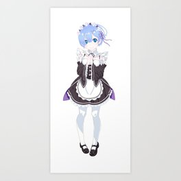 Rem - Re: Zero Art Print