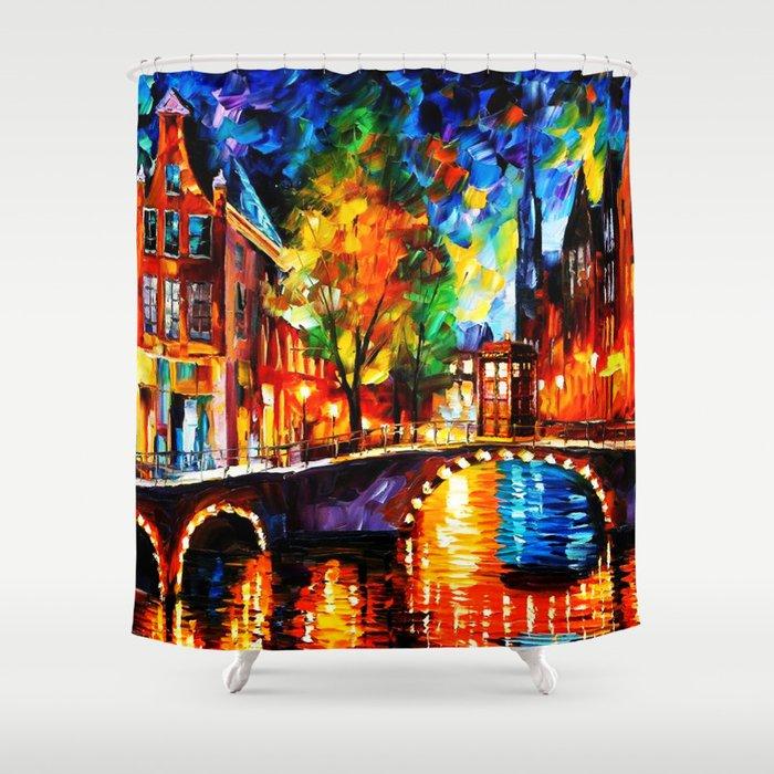 Starry Night Tardis Shower Curtain
