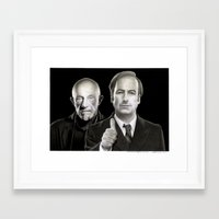 better call saul Framed Art Prints featuring Better call Saul by Giampaolo Casarini
