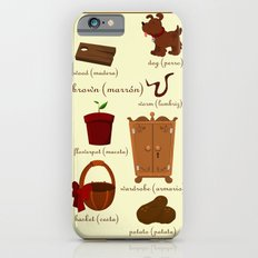 Colors: brown (Los colores: marrón) Slim Case iPhone 6s