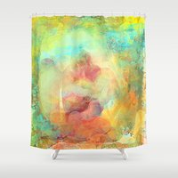 guardians Shower Curtains featuring The Guardians Abstract by Jessielee