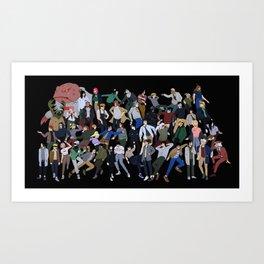 Naruto Streetwear Art Print