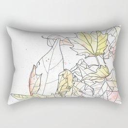 Autumn Leaves Watercolor Rectangular Pillow