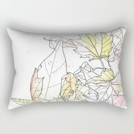 Autumn Leaves Watercolor Rectangular Pillow