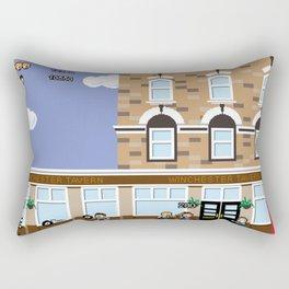 8bit Shaun Of The Dead Rectangular Pillow