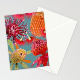 Aussie Beauties on steel blue Stationery Cards